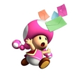 Uh-oh! Toadette's Letters blew away!! What do you think Toadette is saying?